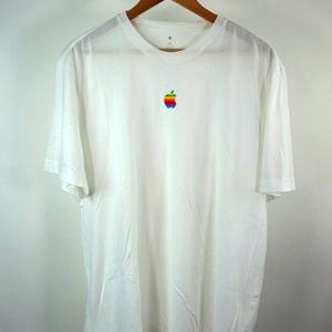 Official Apple Performance Logo T-Shirt White XL